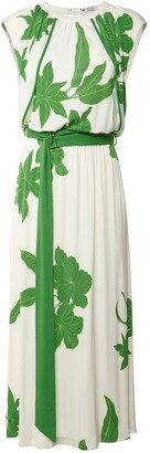 Loro Piana Floral Print Viscose & Silk Jersey Dress