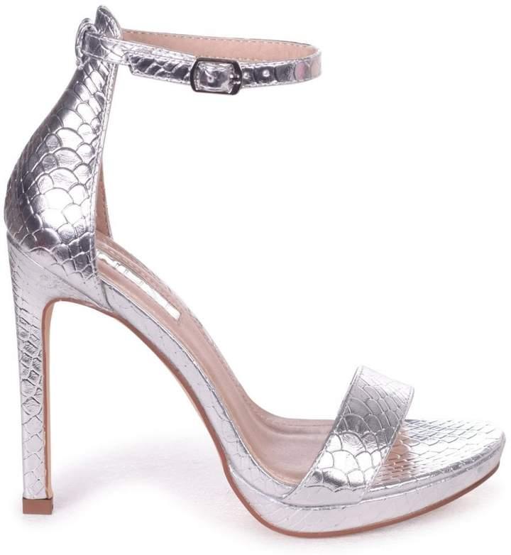 f66f9903fcb Linzi Gabriella Silver Lizard Stiletto Heels With Slight Platform