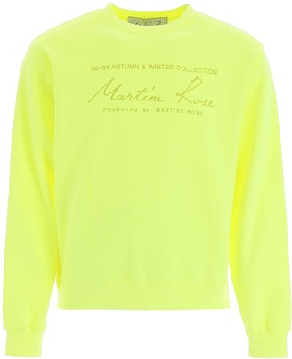 Martine Rose Logo Embroidered Sweatshirt