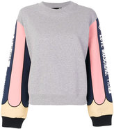 Love Moschino logo printed sleeves sweatshirt