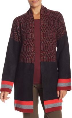Vertigo Patterned Shawl Collar Cardigan