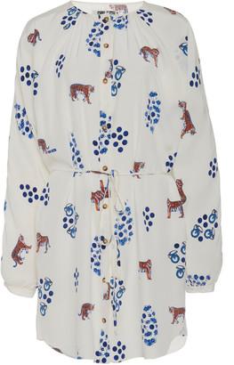 Ciao Lucia Isabella Silk Printed Dress