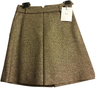 Christian Dior Gold Polyester Shorts