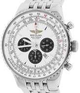 Breitling Navitimer Heritage Flyback A35340 Panda White Stainless Steel 43mm Mens Watch