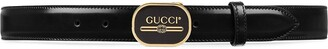Gucci Leather belt with Print buckle