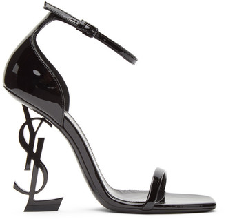 Saint Laurent Black Patent Opyum 110 Sandals