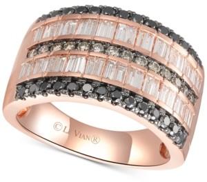 LeVian Le Vian Exotics Diamond Multi-Row Statement Ring (1-3/8 ct. t.w.) in 14k Rose Gold