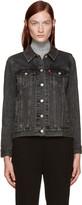 Levi's Black Denim Boyfriend Trucker Jacket