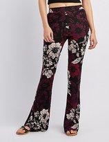 Charlotte Russe Floral Print Flare Pants