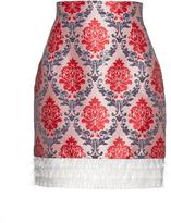 Mary Katrantzou Renzie damask-jacquard PVC-frill skirt