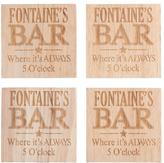 Personal Creations Personalized Bottle-Opening Coasters - Always 5 o'Clock
