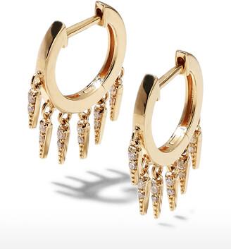 Sydney Evan 14k Diamond Fringe Huggie Hoop Earrings