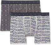 Scotch & Soda Men's 2 All-Over Bedruckt Boxer Shorts,pack of 2