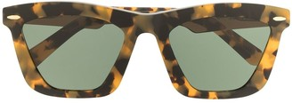 Karen Walker Tortoiseshell-Effect Square Sunglasses