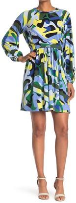 Donna Morgan Elastic Waist Raglan Sleeve Dress
