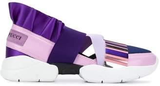Emilio Pucci City Up Colourblock Ruffled Sneakers