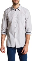 Kenneth Cole New York Long Sleeve Solid Pocket Woven Modern Fit Shirt