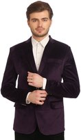 Wintage Men's Velvet Two Buttoned Notch Lapel Party Coat Blazer