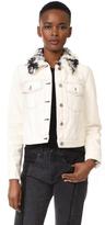 3.1 Phillip Lim Denim Jacket with Sherpa Collar