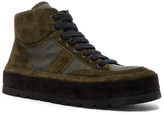Ann Demeulemeester Canvas & Suede Sneakers