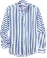 Buttoned Down Men's Slim Fit Supima Cotton Spread-Collar Dress Casual Shirt