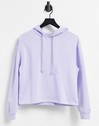 Pieces hoodie co-ord in lilac