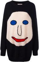 Christopher Kane intarsia face sweater - men - Cotton/Polyamide/Mohair/Virgin Wool - S