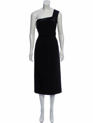 Victoria Beckham One-Shoulder Long Dress w/ Tags Black