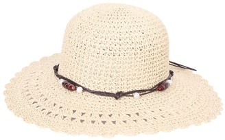 Jmc Trading Company Ladies Wide Brim Hat With Bead Band