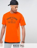 Asos Tall Oversized T-shirt With Take Care Print