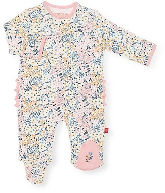 Magnetic Me Baby Girl's Chelsea Floral Organic Cotton Footie