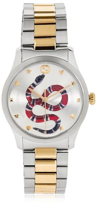 Gucci 38mm G-Timeless Snake Dial Watch