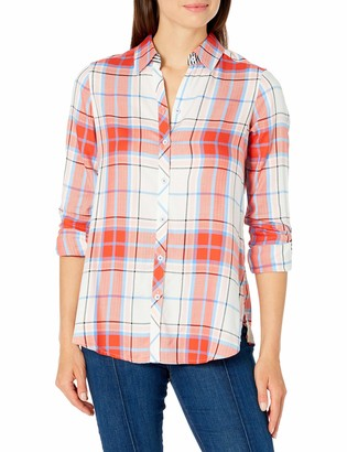 Foxcroft Women's Long Sleeve Zoey Multi Plaid Shirt 2