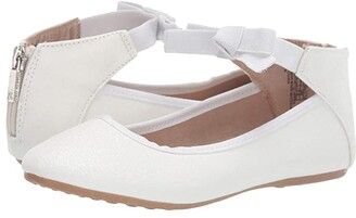 Kenneth Cole Reaction Rose Bow (Toddler/Little Kid/Big Kid) (White Sugar Glitter) Girl's Shoes