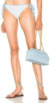 Jonathan Simkhai Grommet String Bikini Bottom in Blue,Stripes,White.