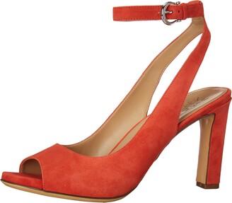 Naturalizer Womens Orella Mango Spice Ankle Strap Heeled Sandal 6 M