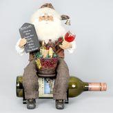 Karen Didion Originals Wine Bottle Holder Santa