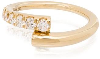 Melissa Kaye Lola 18kt yellow gold diamond ring
