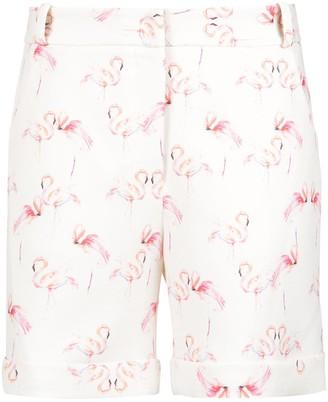 Olympiah Flamingo Print Tailored Shorts