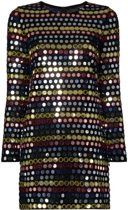 Ashish Sequin-Embellished Mini Dress