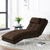 Lifestyle Solutions Vaugn Convertible Chaise in Dark Brown