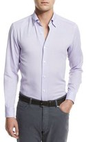 Ermenegildo Zegna Flannel Woven Sport Shirt, Lilac