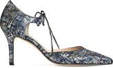 LK Bennett Fauna metallic court shoes