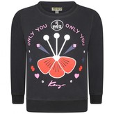Kenzo KidsGirls Black Only You Sweater