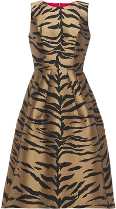 Carolina Herrera Flared Zebra-jacquard Dress