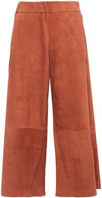 Sprwmn Cropped Suede Wide-leg Pants