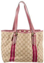 Gucci Leather-Trimmed Tote Bag