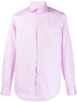 Canali Striped Long-Sleeve Shirt