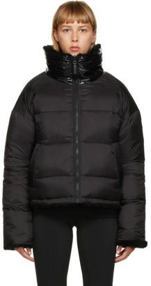 Army by Yves Salomon Yves Salomon - Army Reversible Black Down Sherpa Cropped Jacket