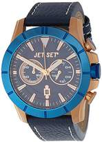 Jet Set J6339R-333 – Vienna – Watch Men – Quartz – Chronograph – Blue Dial – Bracelet Cuir Marron